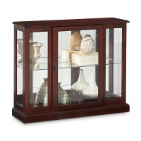 Darby Home Co Purvoche Console Curio Cabinet & Reviews