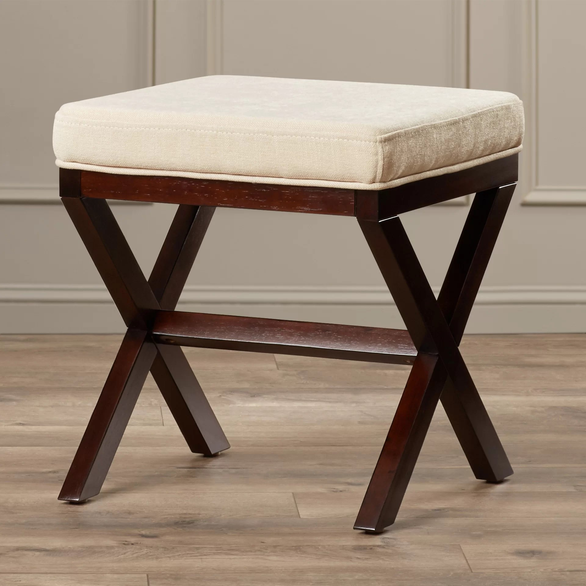 Wooden Vanity Chair Charlton Home Milford Wood Vanity Stool And Reviews Wayfair