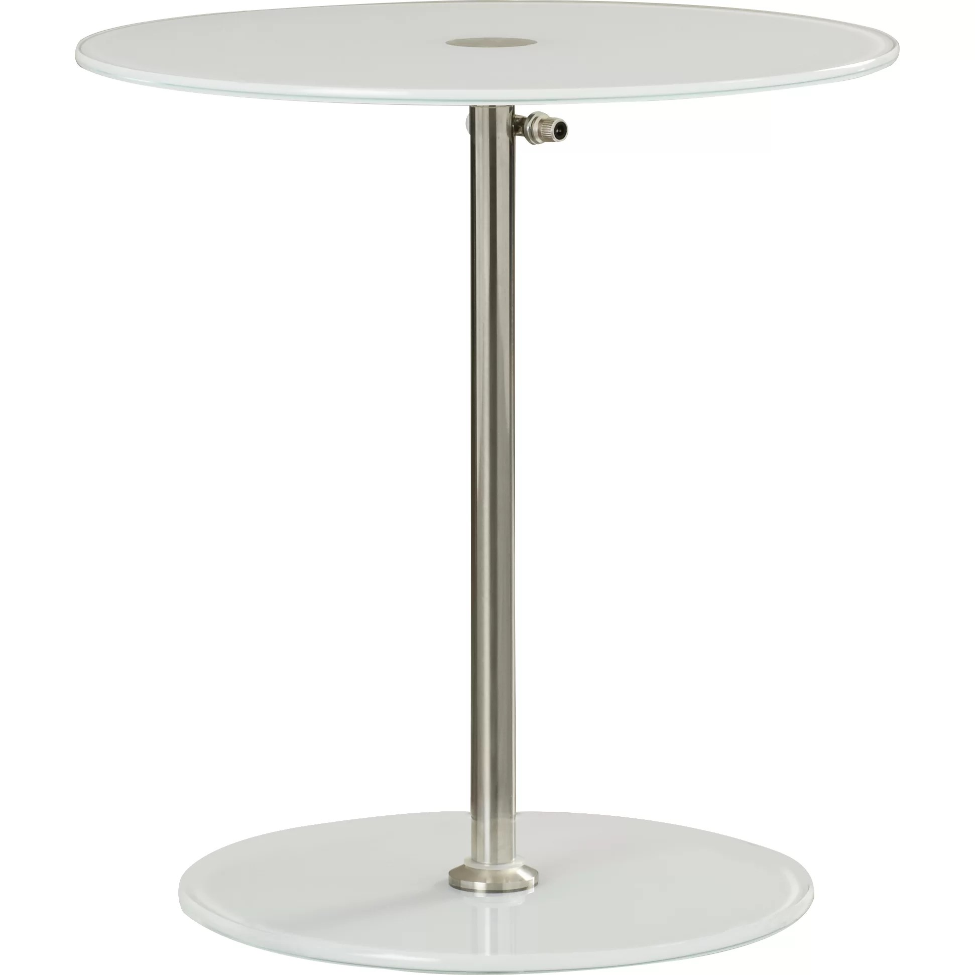 Round Glass Top End Tables Wade Logan Wilbert Round Glass Side Table And Reviews Wayfair