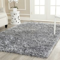 Wade Logan Kenneth Gray/Black Shag Area Rug & Reviews