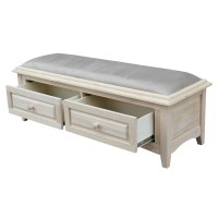 International Concepts Wood Storage Entryway Bench ...