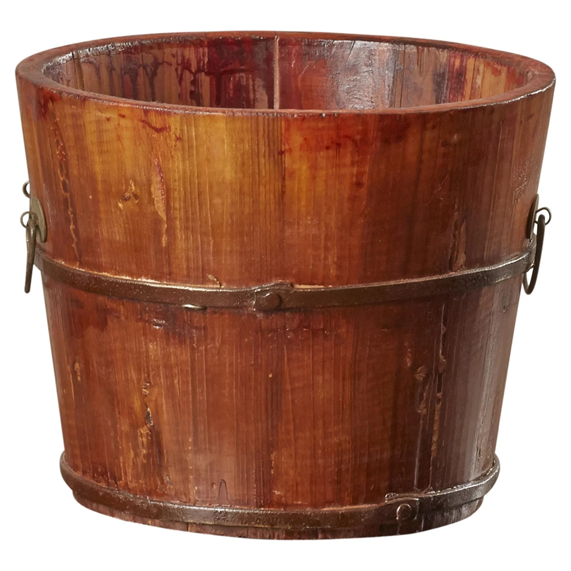 Wooden Sinks August Grove Vintage Decorative Wooden Sink Bucket