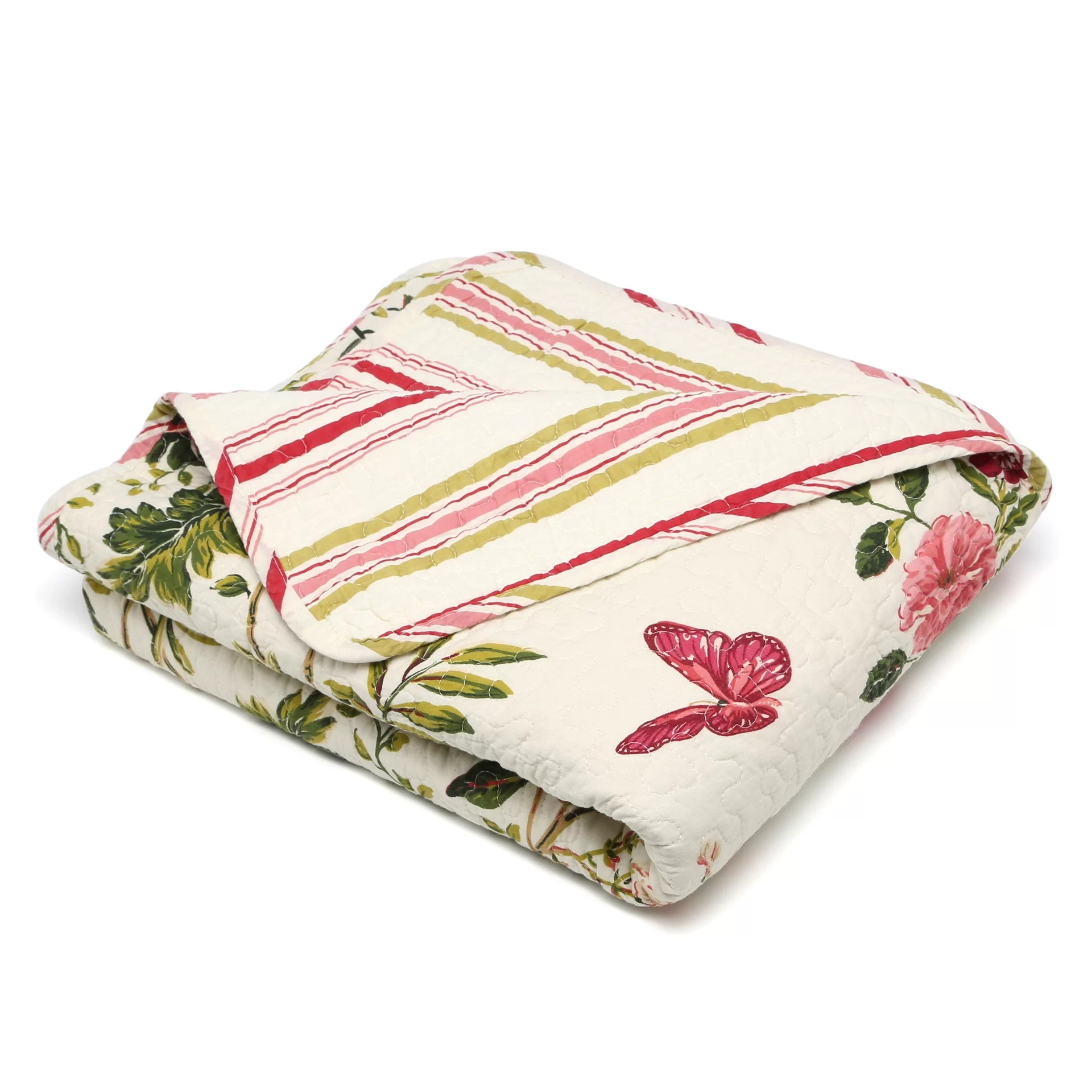 Cotton Throws August Grove Arielle Quilted Cotton Throw Blanket