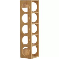 August Grove Beula 5 Bottle Wall Mounted Wine Rack ...