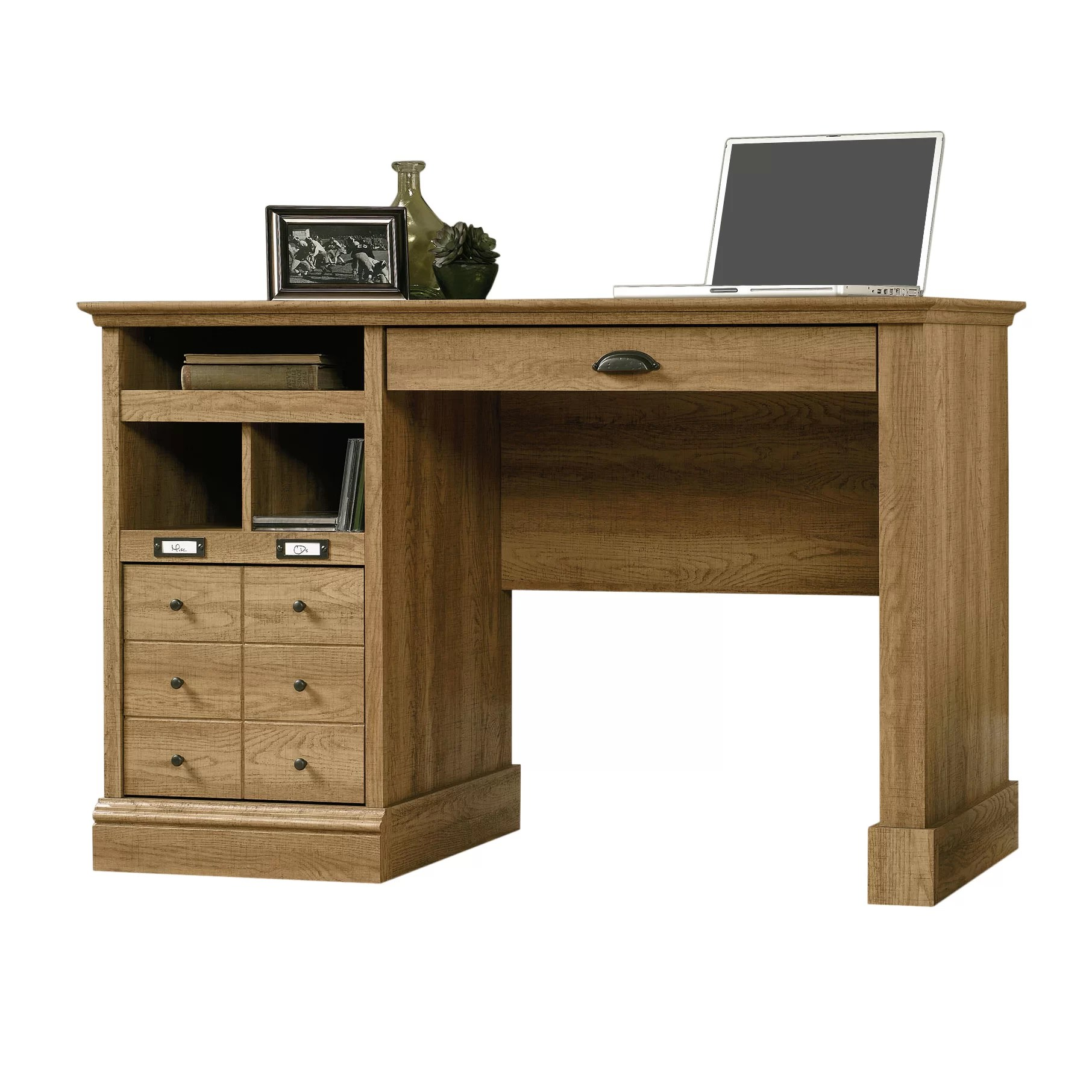 Computer Desk With Drawers Beachcrest Home Bowerbank Computer Desk With 2 Storage