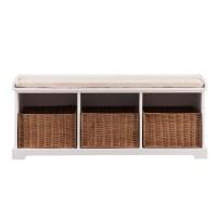 Beachcrest Home Lindell Wood Storage Entryway Bench ...