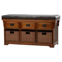 Loon Peak Hemlock Wooden Entryway Storage Bench & Reviews ...