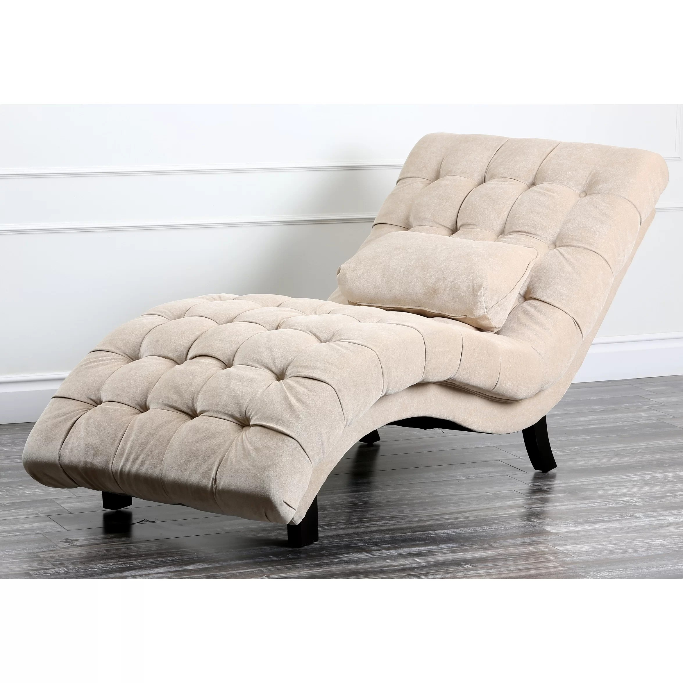 Chaise Chair House Of Hampton Lizard Fabric Chaise Lounge And Reviews