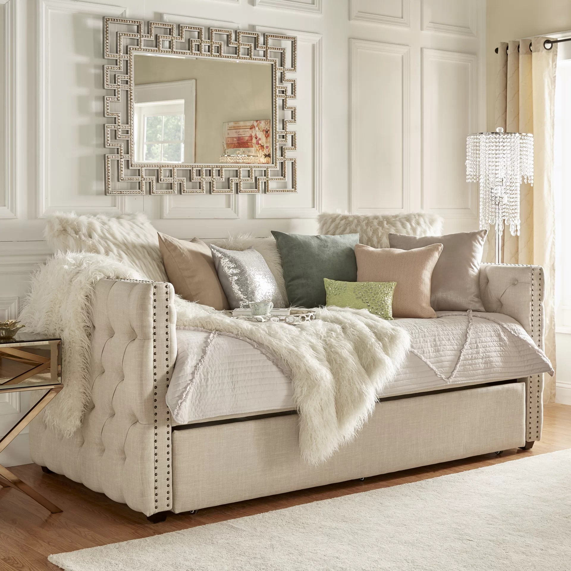 Day Bed Trundle Bed House Of Hampton Ghislain Daybed With Trundle And Reviews