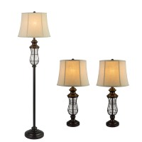 Fangio 3 Piece Table Lamp and Floor Lamp Set & Reviews ...