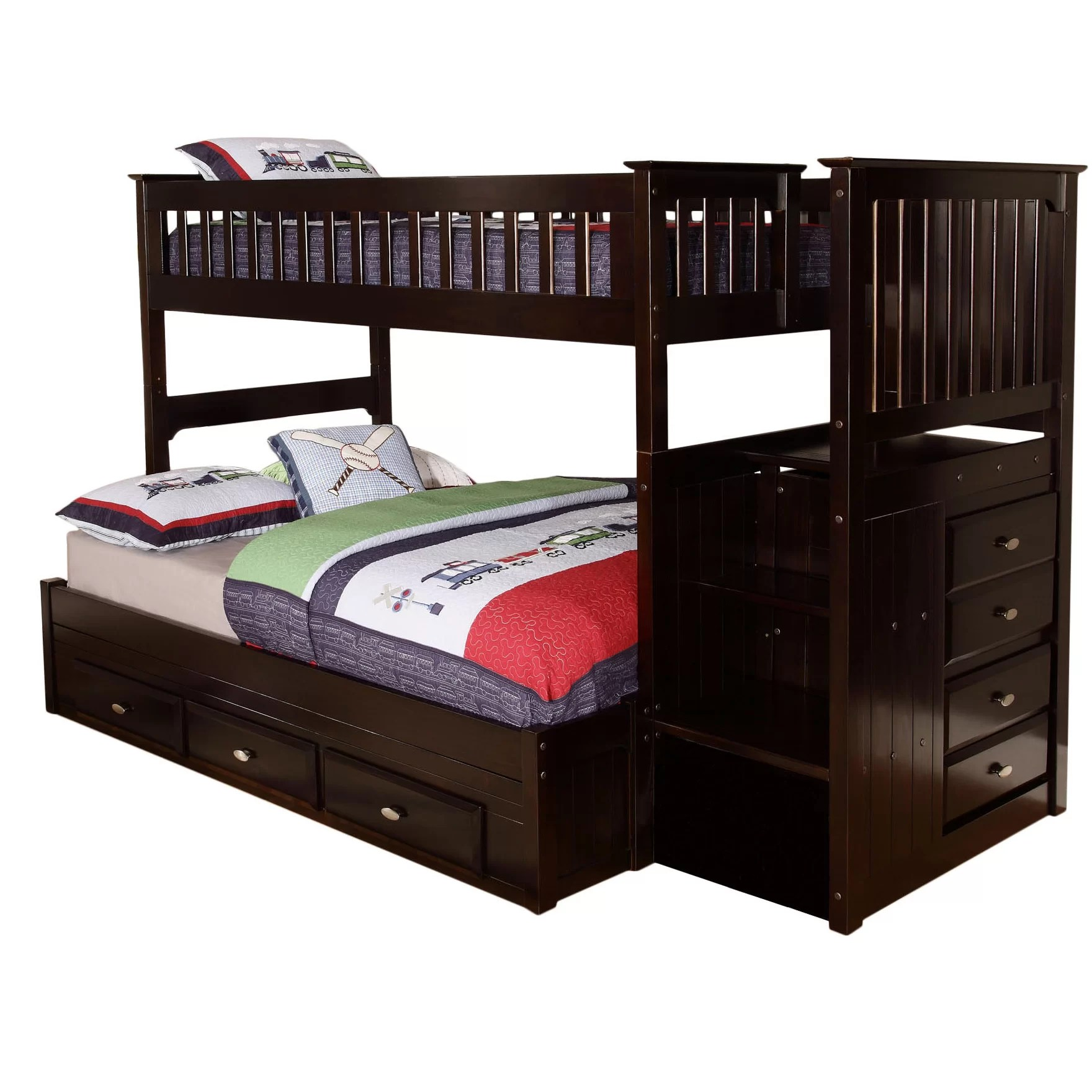 Bed Bunk Viv 43 Rae Kaitlyn Twin Over Full Bunk Bed And Reviews Wayfair