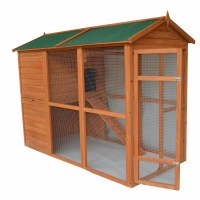 Pawhut Deluxe Large Backyard Chicken Coop/Hen House with ...