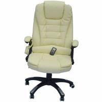 HomCom HomCom Faux Leather Heated Massage Chair & Reviews ...