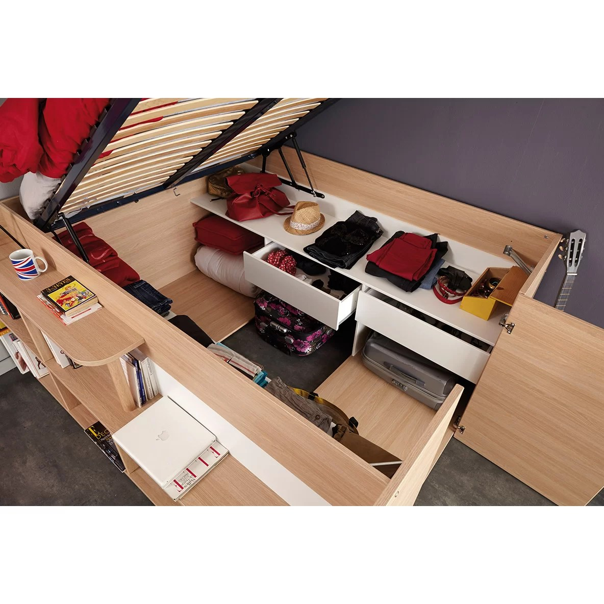 Bunk Beds With Storage Space Parisot Storage Platform Bed And Reviews Wayfair