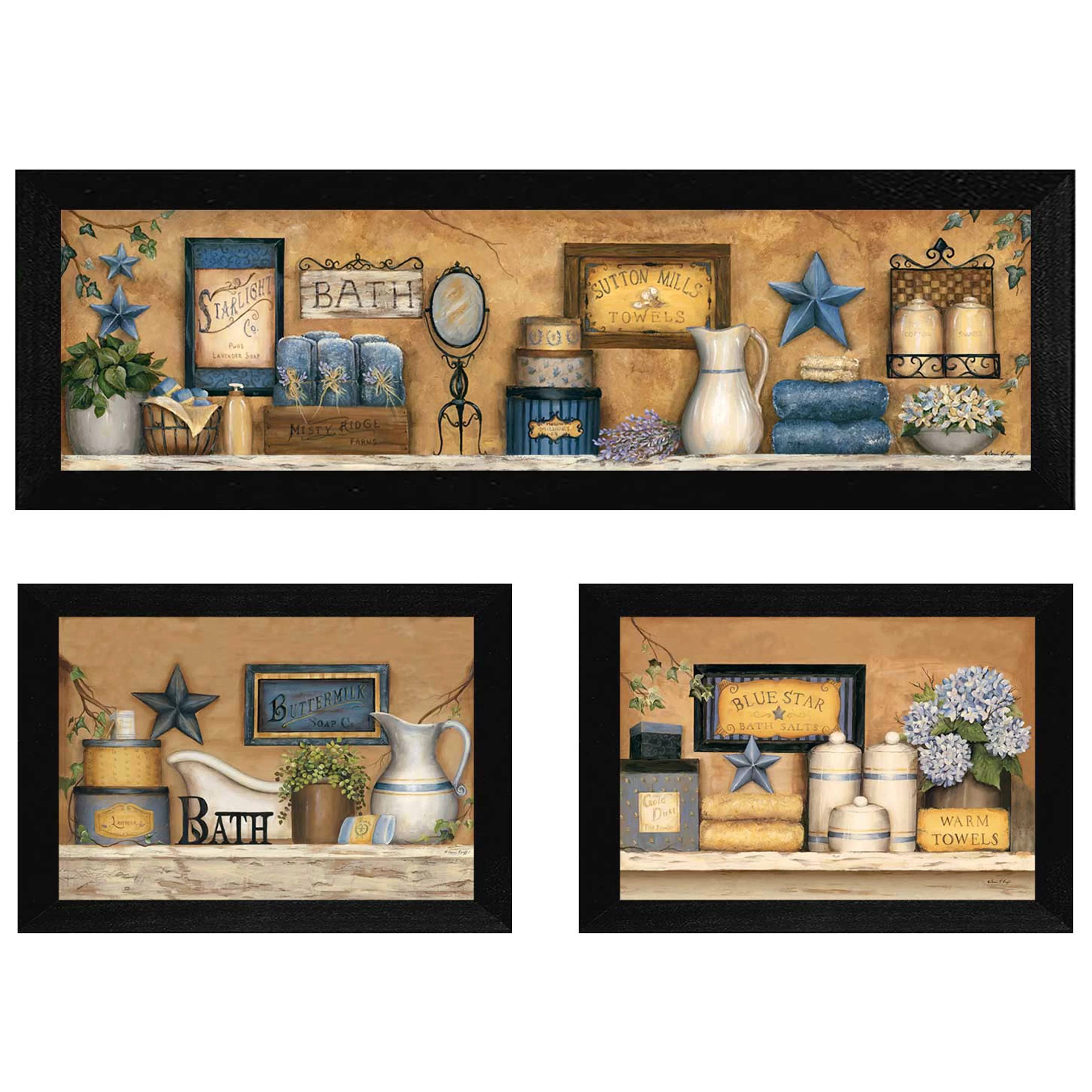 Framed Wall Art Sets Of 3 Trendy Decor 4u 39bathroom Collection Iii 39 By Carrie Knoff