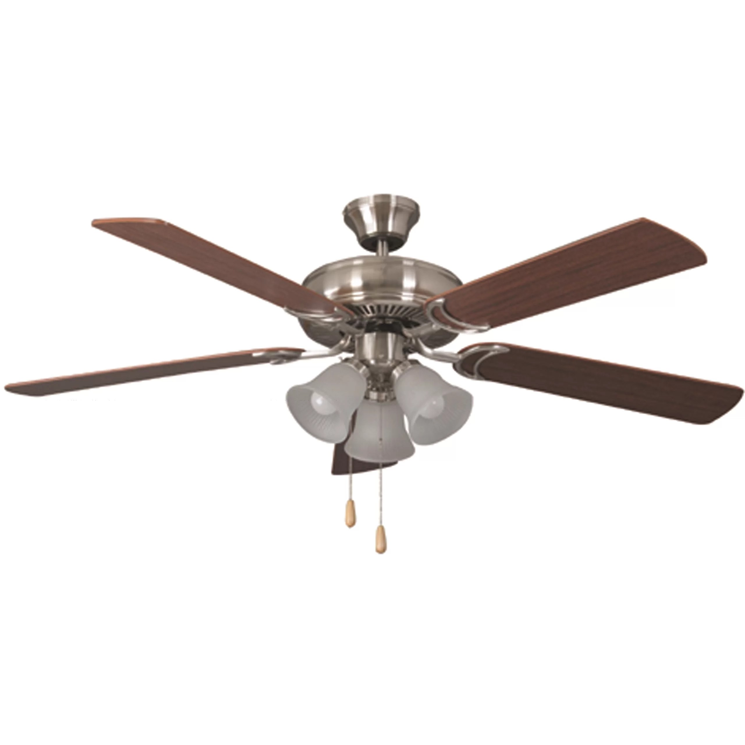 Double Paddle Ceiling Fans Bala Bala Dual Mount 5 Blade Ceiling Fan And Reviews