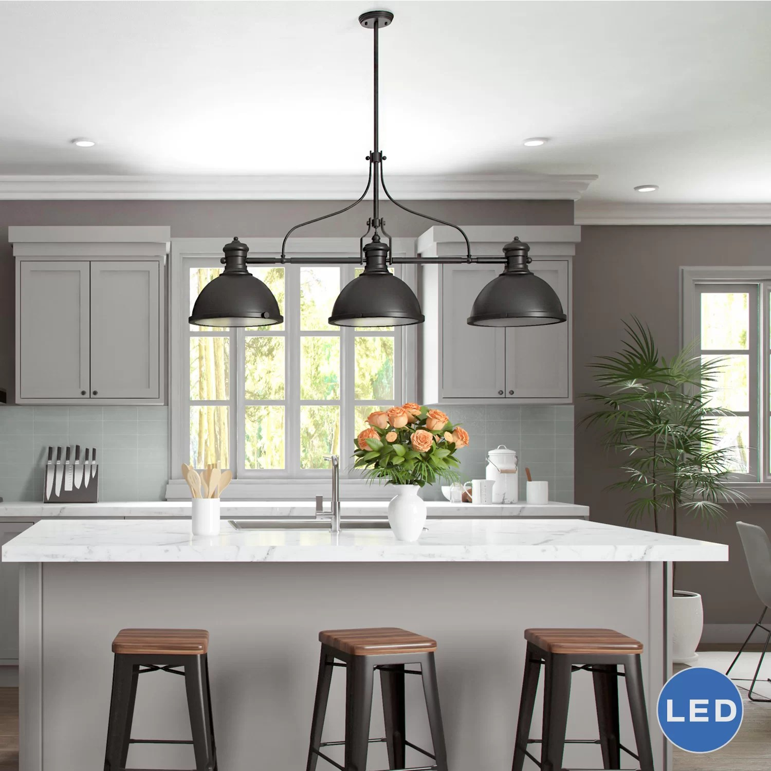 Kitchen Island Pendant Lights Vonnlighting Dorado 3 Light Kitchen Island Pendant