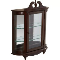 Rosalind Wheeler Cheshire Wall-Mounted Curio Cabinet ...