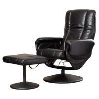 Symple Stuff Leather Heated Reclining Massage Chair with ...