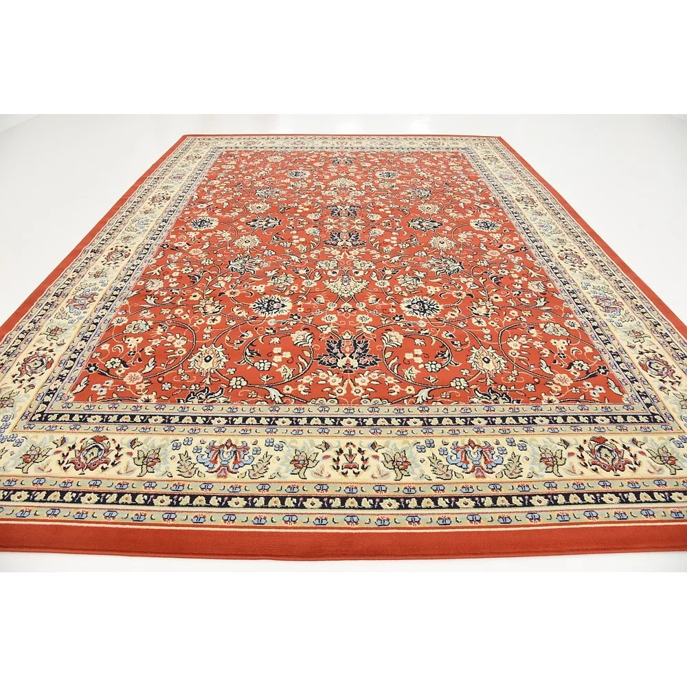 World Menagerie Essehoul Terracotta Area Rug Reviews