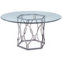 Mercer41 Viggo Round Glass Dining Table & Reviews