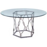 Mercer41 Viggo Round Glass Dining Table & Reviews | Wayfair