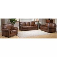 Amax Aspen 3 Piece Leather Living Room Set | Wayfair