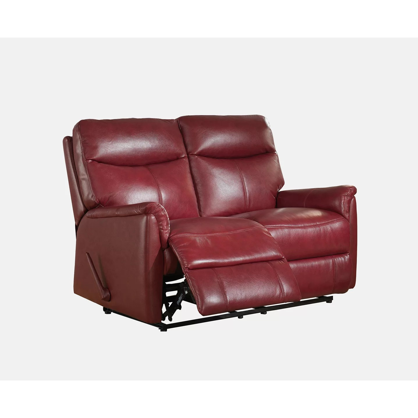 Leather Loveseat Amax Napa Top Grain Leather Lay Flat Reclining Sofa And