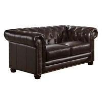 Amax Kensington Top Grain Leather Chesterfield Sofa ...