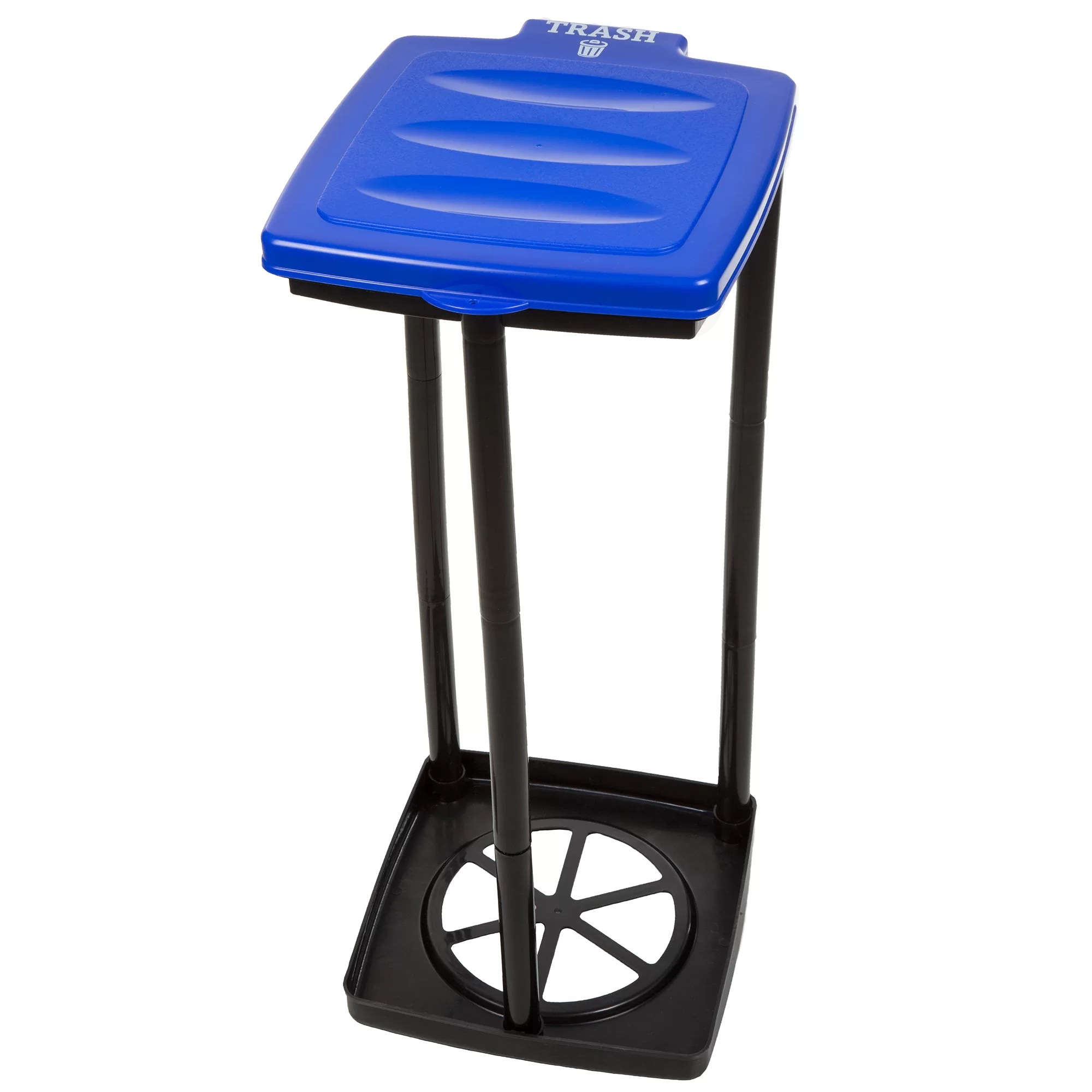Collapsible Trash Cans Wakeman Portable Trash Bag Holder 13 Gallon Plastic Trash