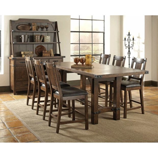 infini furnishings 7 piece counter height dining set