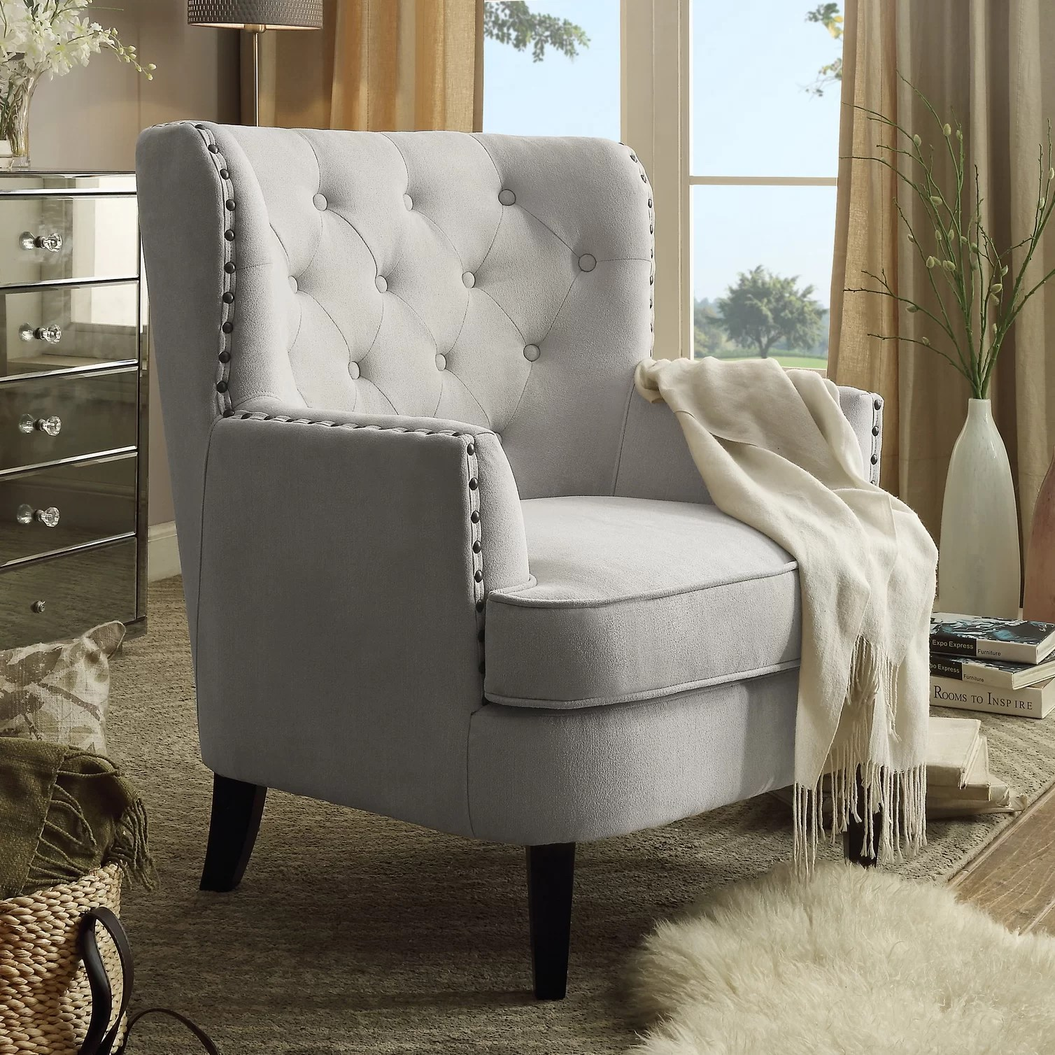 Accent Chairs Melbourne Instant Home Chrisanna Wingback Club Chair And Reviews Wayfair