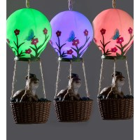 Wind & Weather Squirrel in a Lighted Hot Air Balloon Wall ...