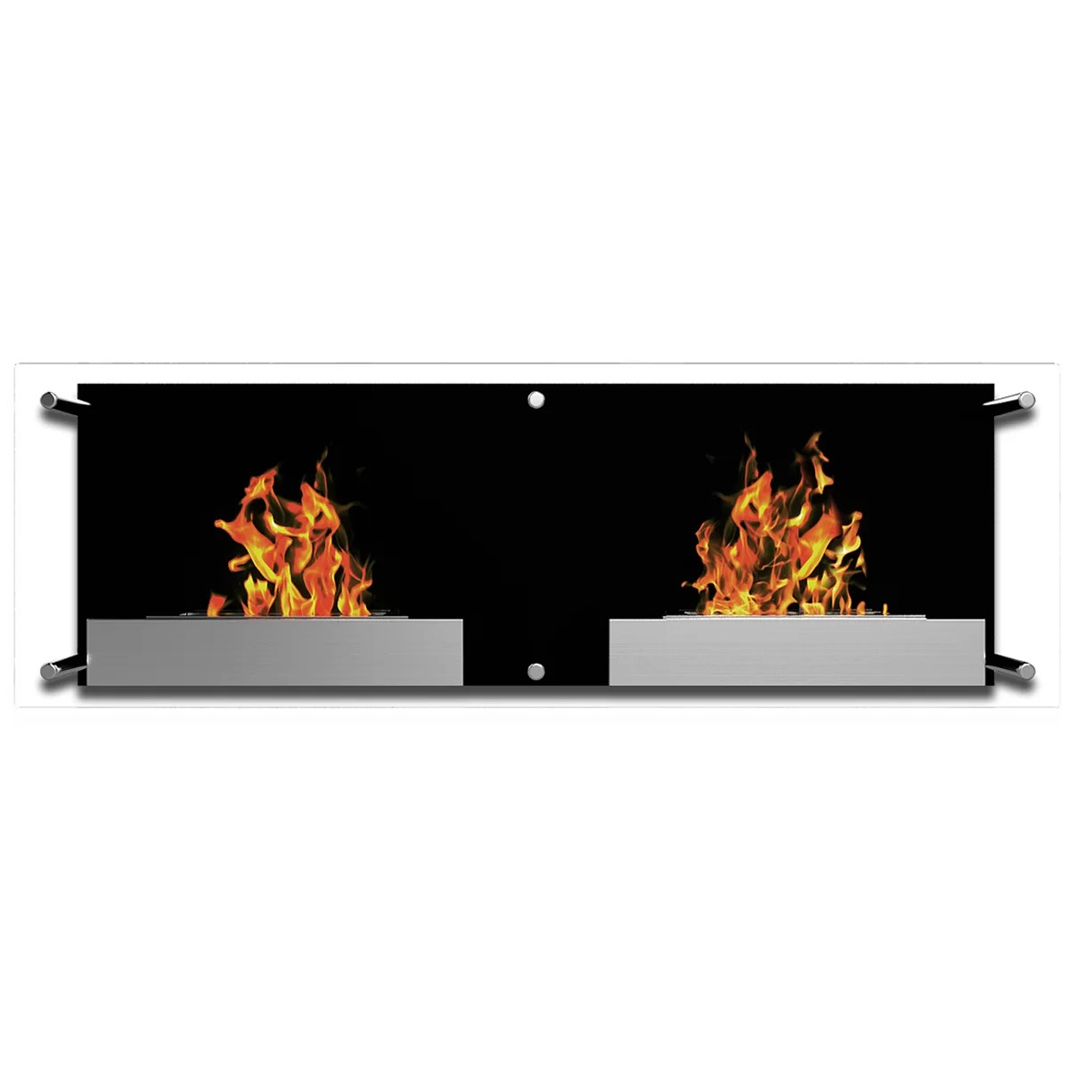 Ventless Wall Mount Gas Fireplace Elite Flame Mora Ventless Wall Mount Bio Ethanol Fireplace