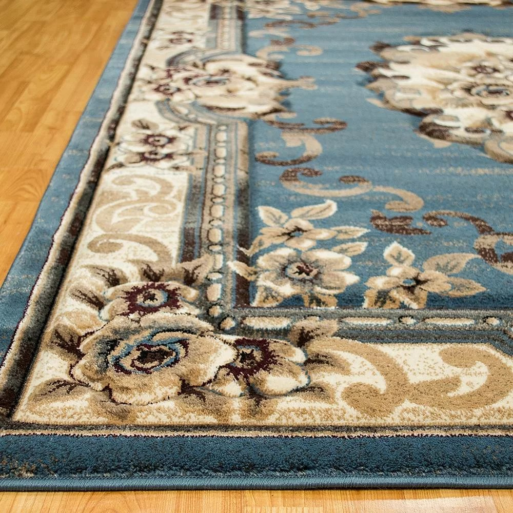 Allstar Rugs Persian Blue Beige Area Rug Reviews Wayfair