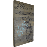 FiresideHome In-A-Word Life Is a Beautiful Ride Textual ...