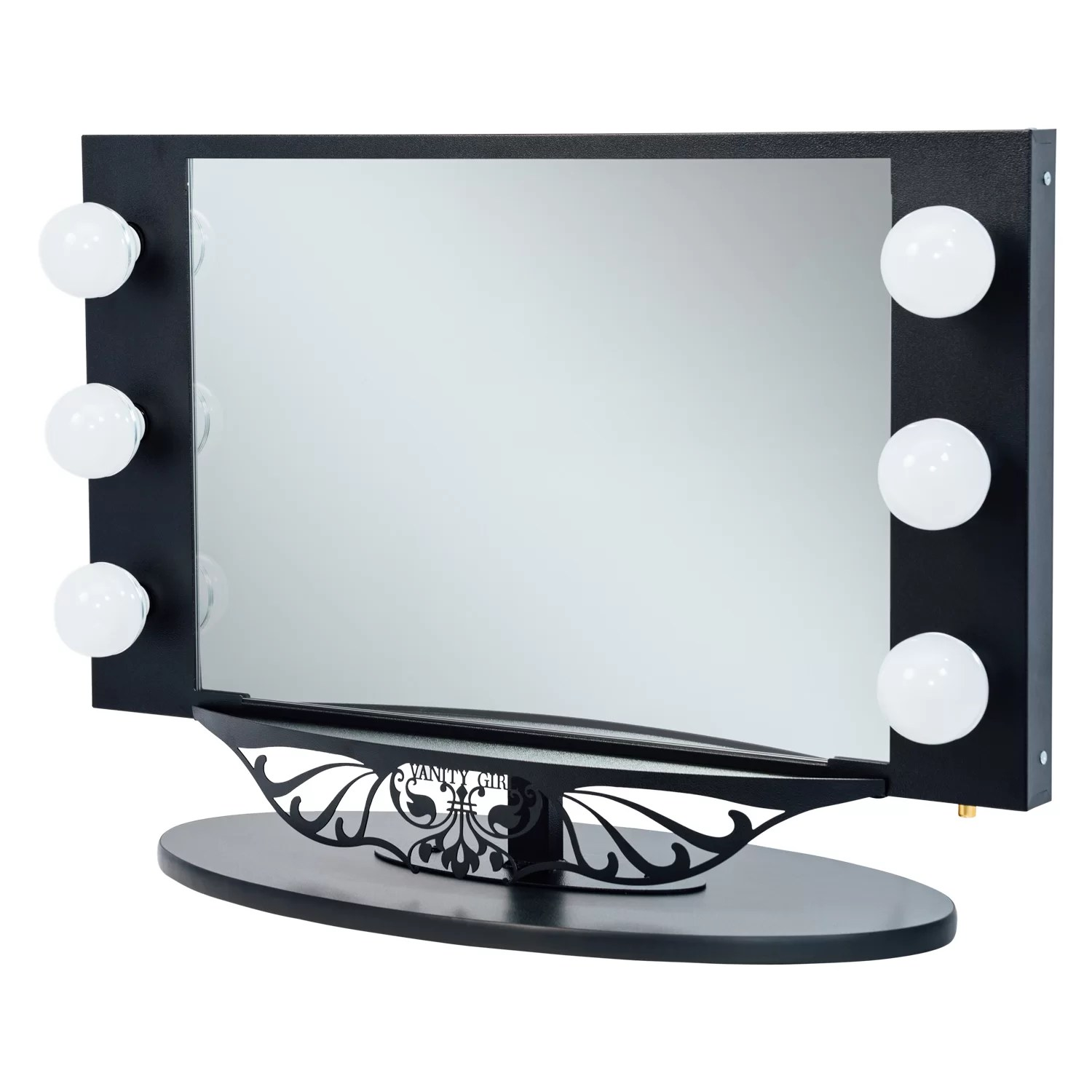 Vanity Mirrors Vanity Girl Hollywood Starlet Lighted Vanity Mirror