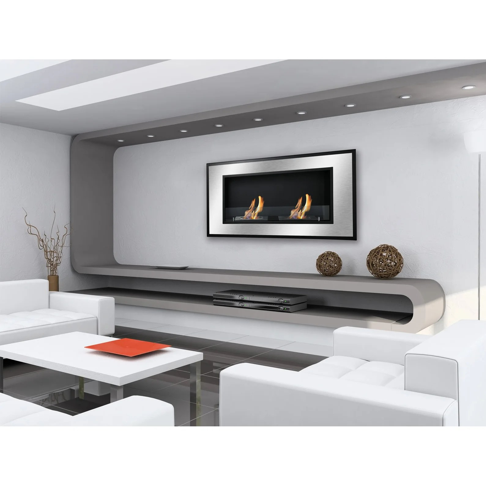 Ventless Wall Mount Gas Fireplace Ignis Bellezza Recessed Ventless Wall Mount Ethanol