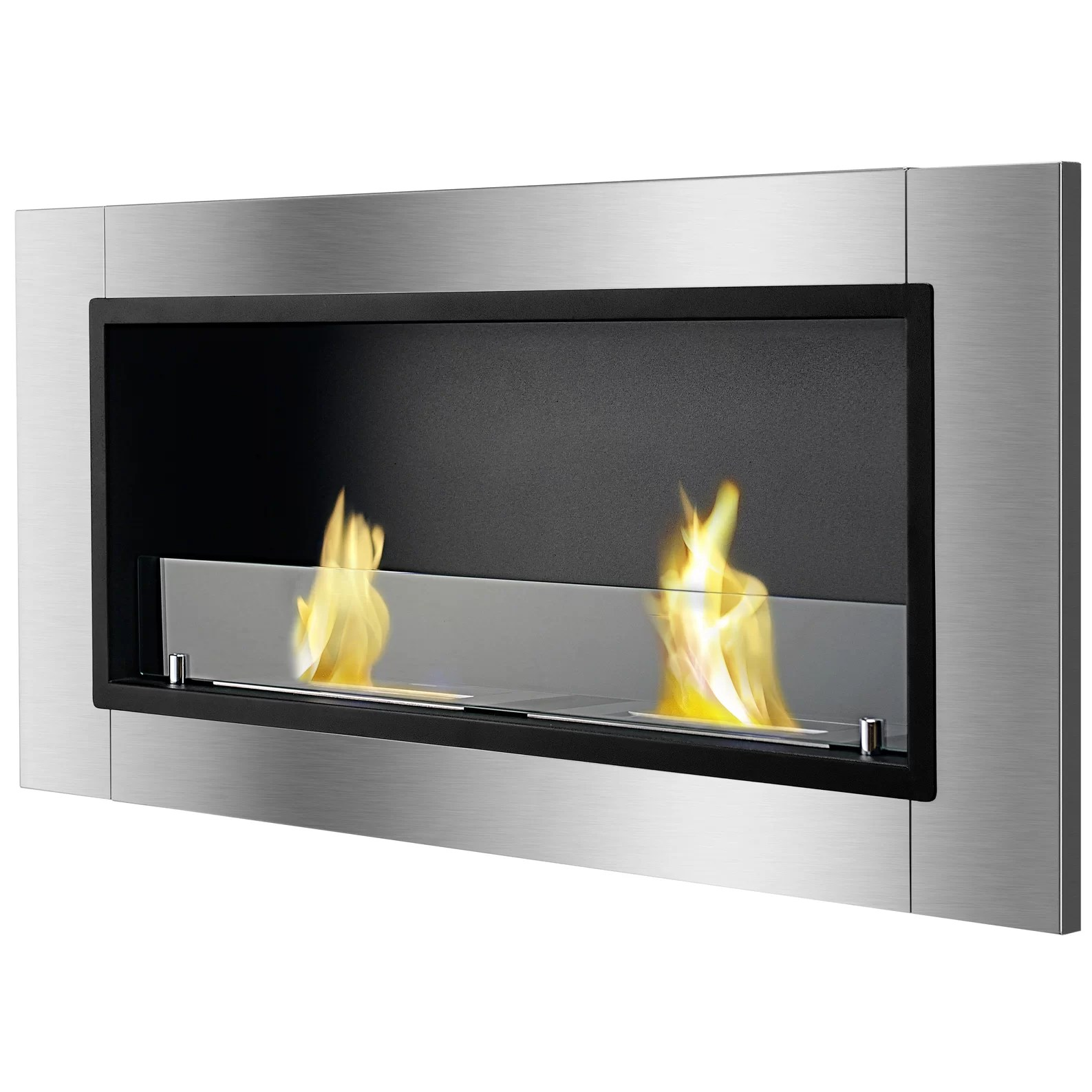 Ventless Wall Mount Gas Fireplace Ignis Lata Ventless Wall Mount Ethanol Fireplace Wayfair