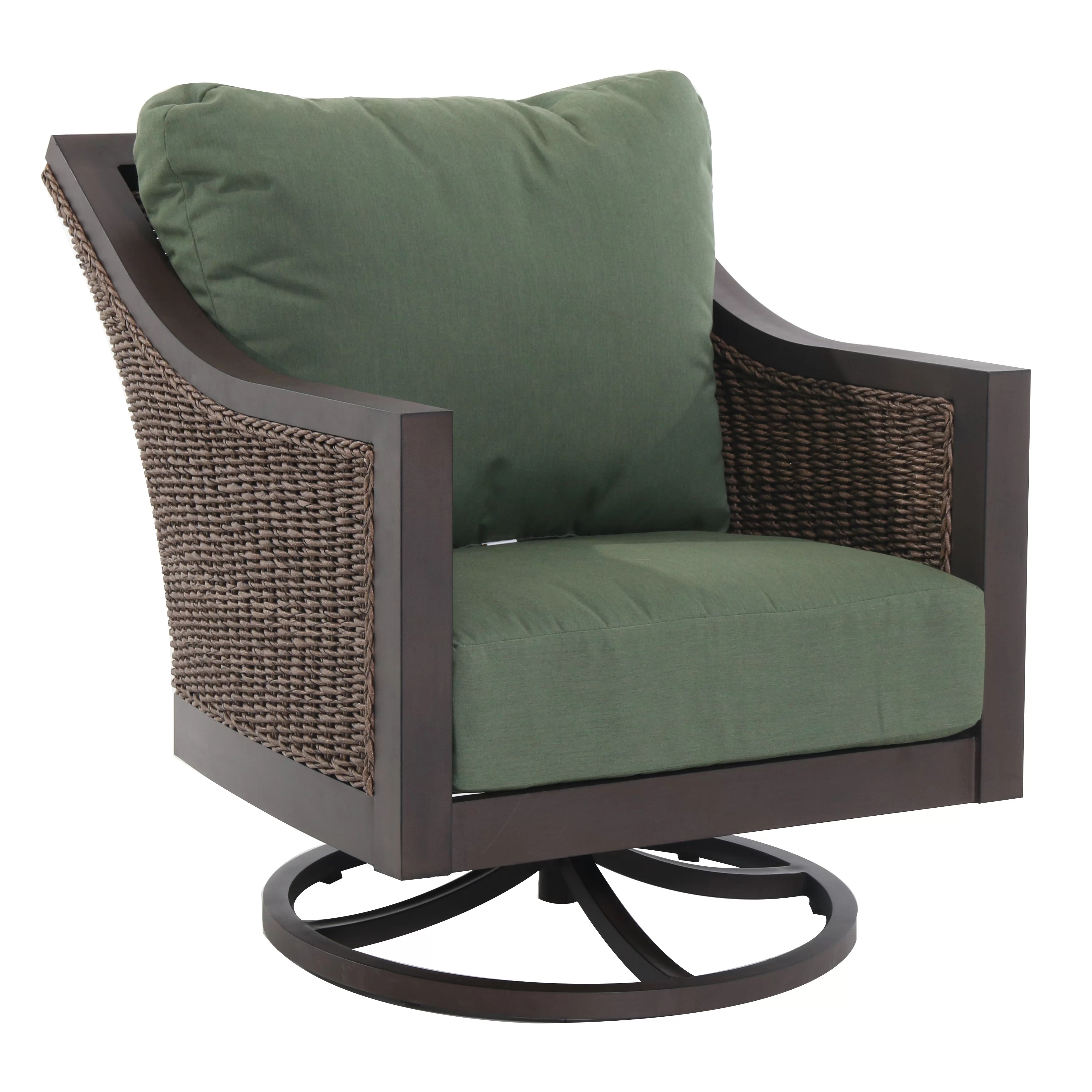 Rocking Chair With Cushions Royal Garden Biscay Swivel Lounge Rocking Chair With
