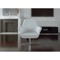 UrbanMod Mid Century Swivel Leather Lounge Chair & Reviews ...