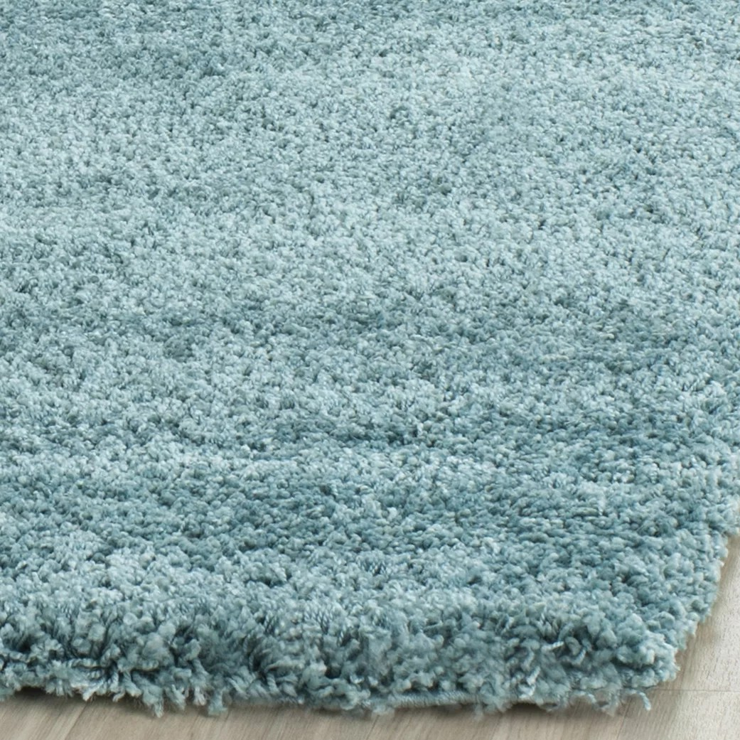 Blue Shag Rug Safavieh Milan Shag Aqua Blue Area Rug And Reviews Wayfair
