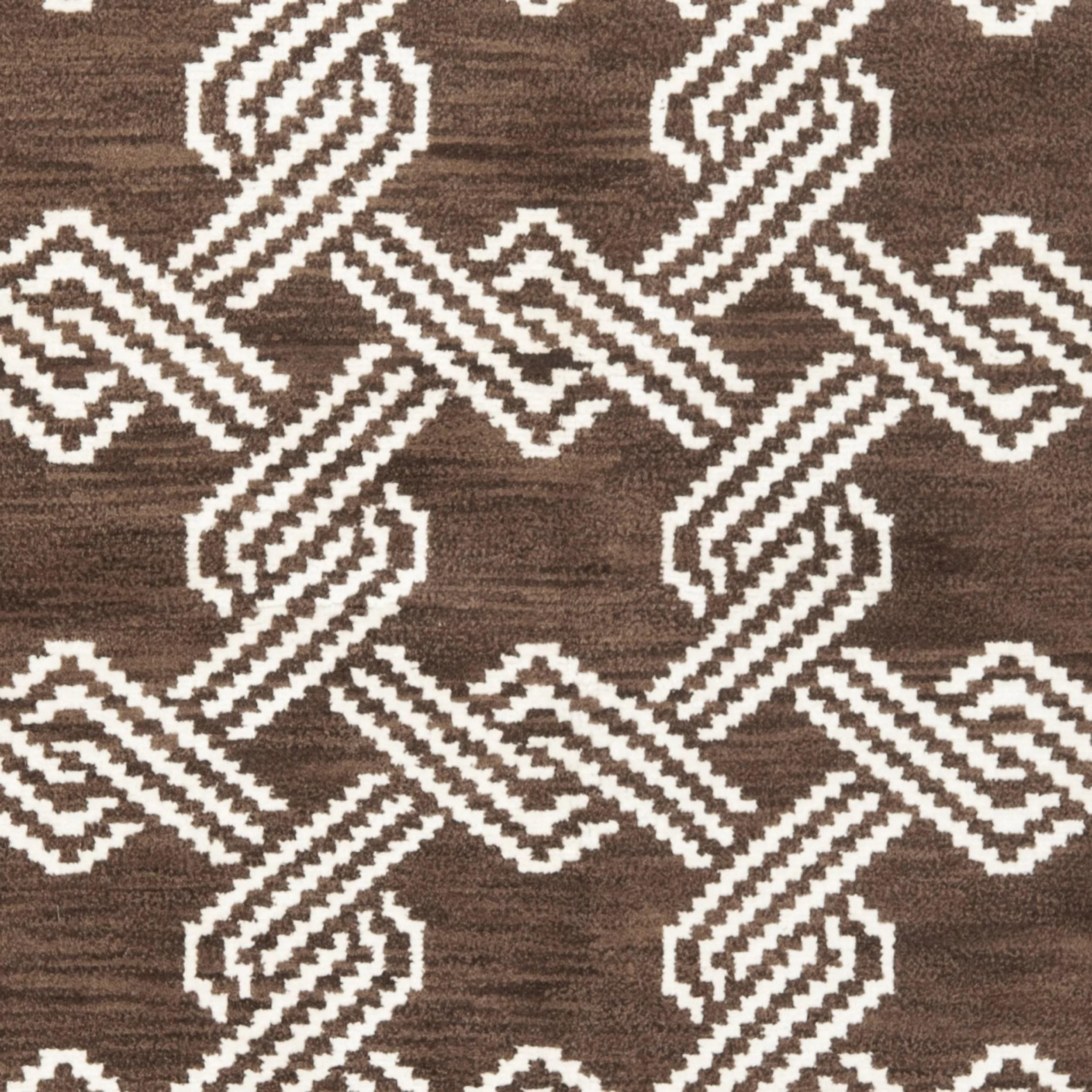 Safavieh Mosaic Brown Creme Geometric Rug Wayfair