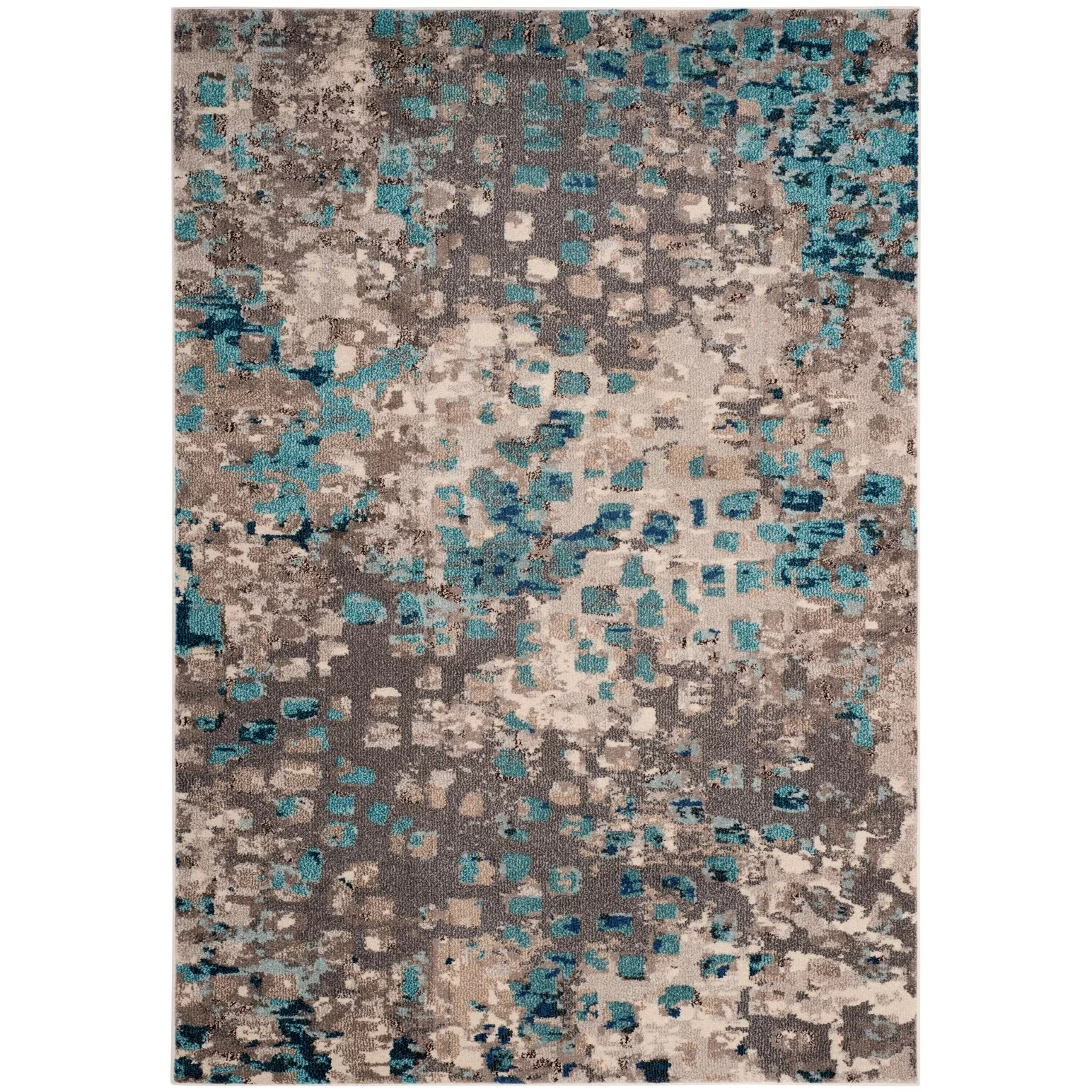 What Color Rug With Grey Walls Safavieh Monaco Gray Light Blue Area Rug And Reviews Wayfair