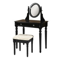 Linon Lorraine Vanity Set with Mirror & Reviews | Wayfair
