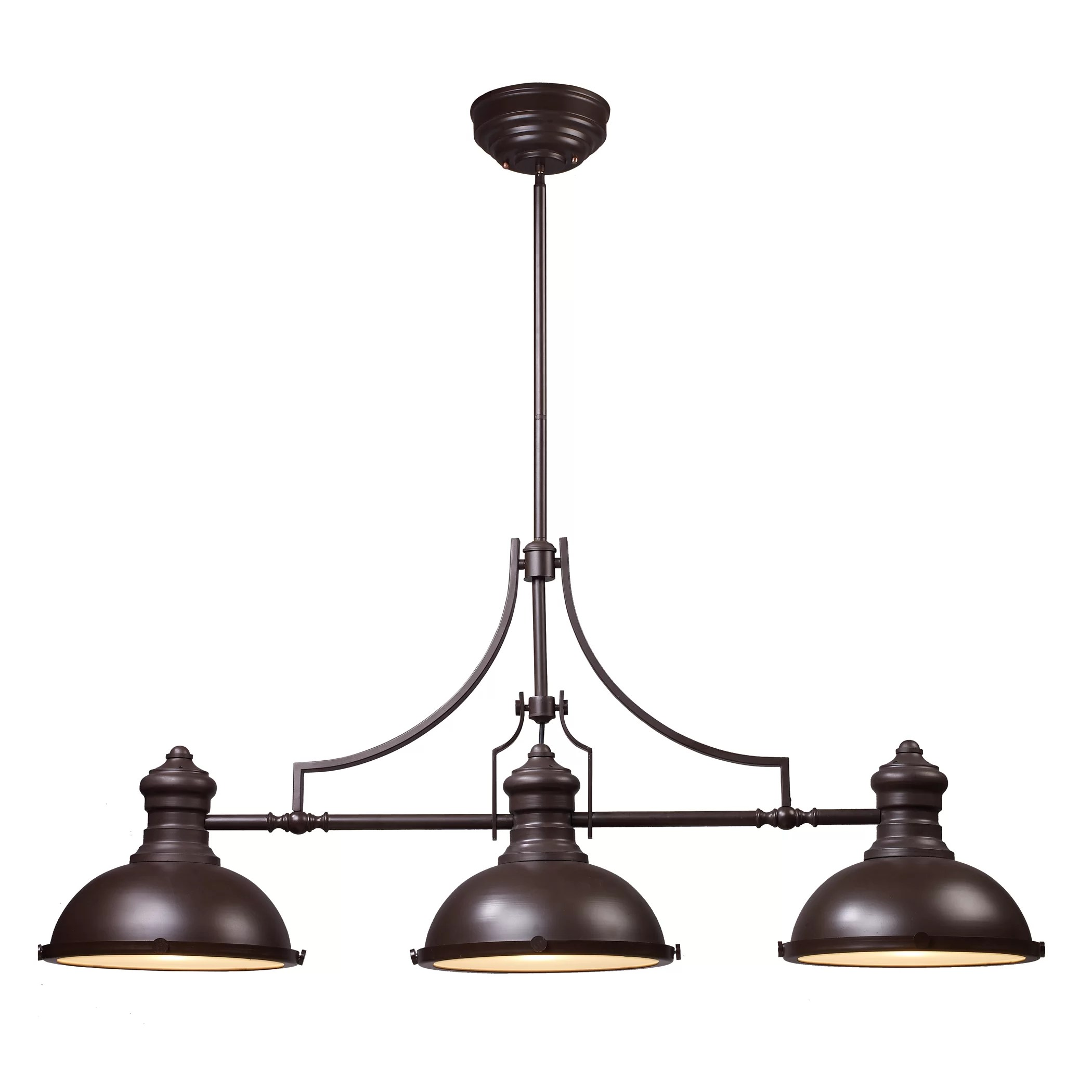 Pendant Island Lights Landmark Lighting Chadwick 3 Light Kitchen Island Pendant