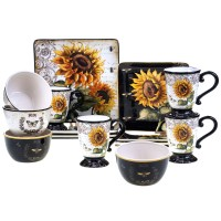 Certified International French Sunflower 16 Piece ...
