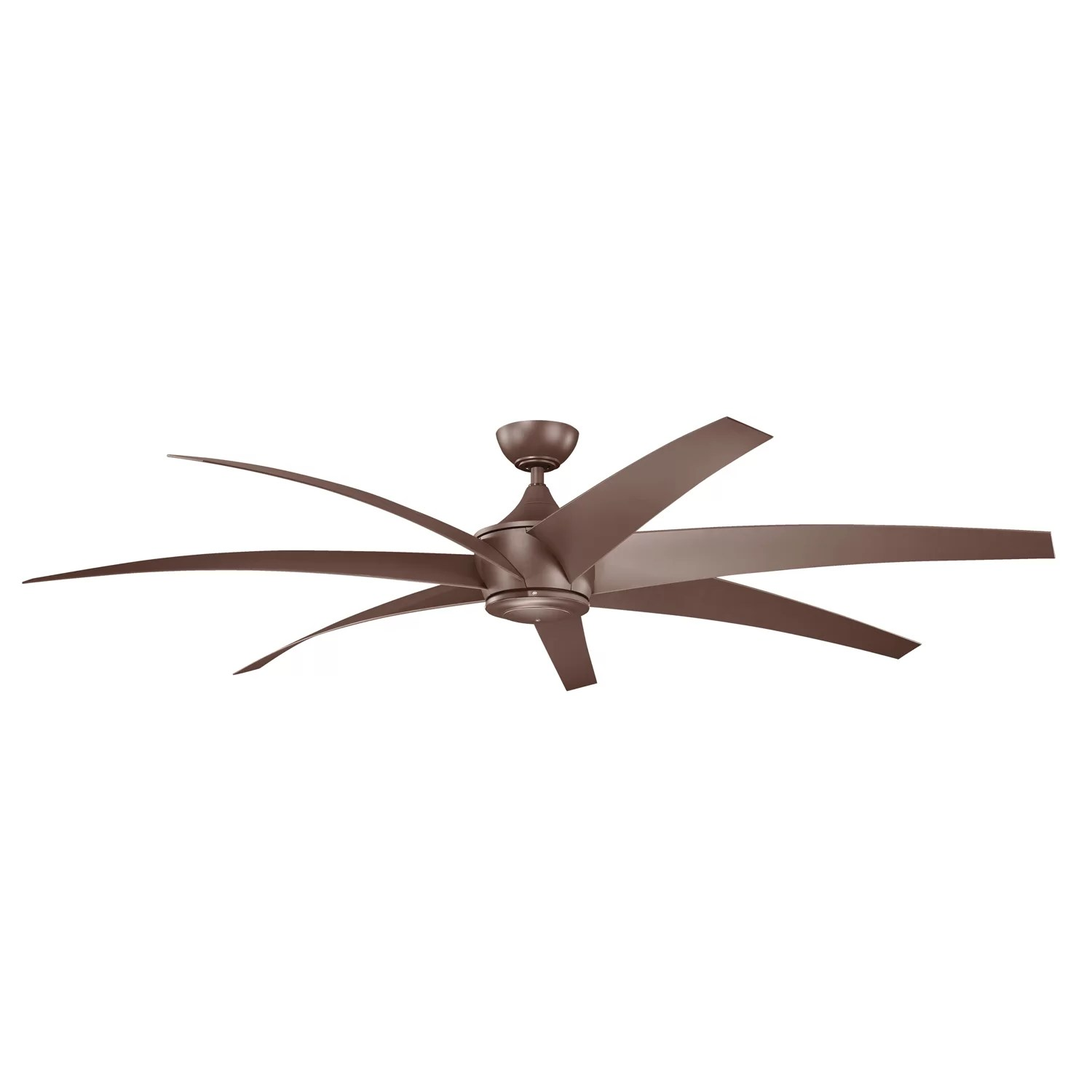 Eight Bladed Ceiling Fan Kichler 80 Quot Lehr 7 Blade Ceiling Fan And Reviews Wayfair
