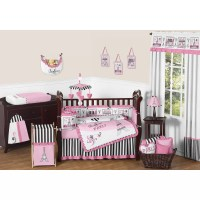 Sweet Jojo Designs Paris 9 Piece Crib Bedding Set ...