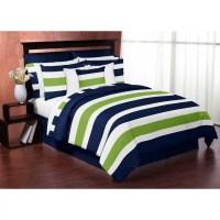 Sweet Jojo Designs Stripe 3 Piece King Comforter Set ...
